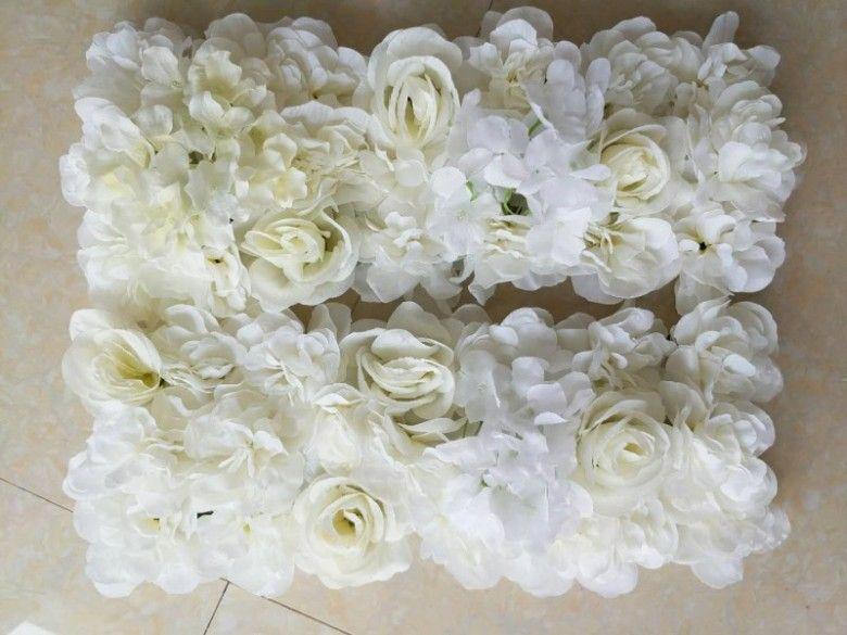 Nueva Llegada Simulación Rose Hydrangea Flor Filas Decoración de boda Arco Centros de mesa Accesorios 18 colores Disponible envío gratis