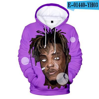 Hip Hop Moda sudaderas con capucha casual para hombre con capucha diseñador con el jugo WRLD impresión de alta calidad con capucha