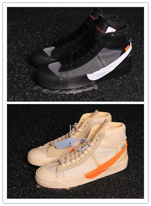 The Ten New Blazer Mid All Hallows Eve Grim Reepers Sneakers Rainbow Black-Total Orange 10X Sports Skateboard Shoes