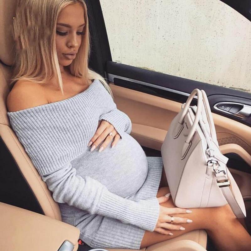 2021 2019 Maternity Dress Tops Autumn Winter Pregnancy Clothes For Pregnant Women Shoulderless Sexy Mummy Clothing Handcraft Elastics From Tititrading 104 43 Dhgate Com