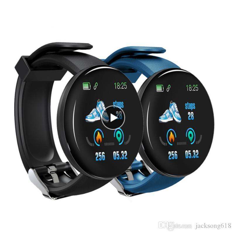 Wholesale Smart Watches HeartRate Watch D18 Smart Wristband D18 Sports Watches D13 Smart Band Men Women Smartwatch Android 1pcs/lot