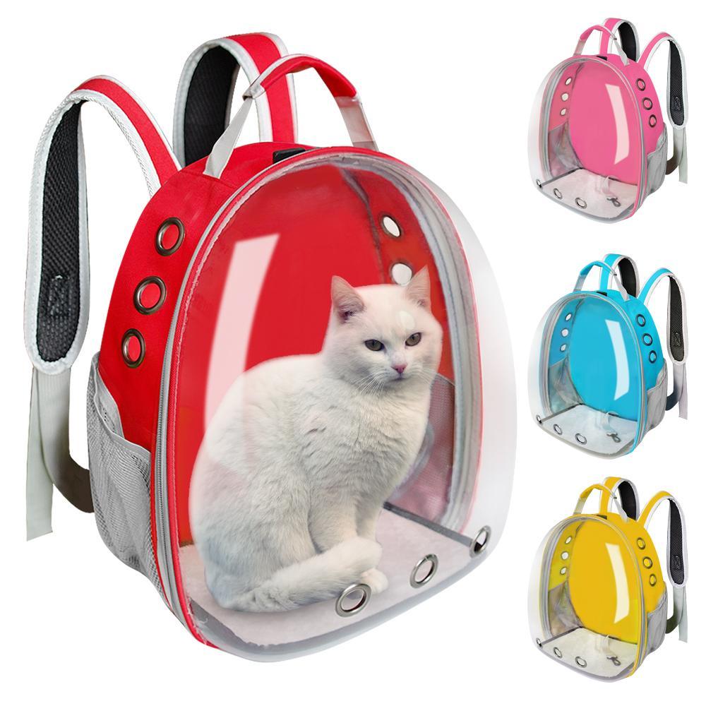Cat mochila Dog Pet portador do gato Viagem Duplo Shoulder Bag Cápsula Espacial Cat Backpack para o saco pequeno pet Handbag