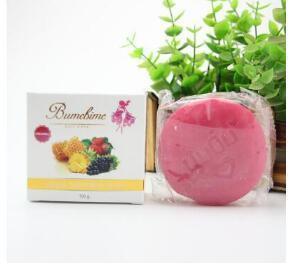 3 stücke Bumebime Handgemachte Seife Weiße Natürliche Seifen Hautaufheller Bad und Körper Arbeitet Fruchtiges Öl Seife 100g C18112001