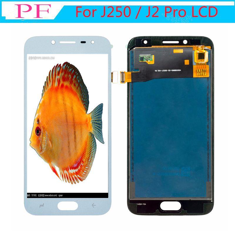 ЖК-дисплей для Samsung Galaxy J250 J2 Pro J2 2018 J250F J250H J250M TFT сенсорный экран с регулируемой яркостью ЖК-дисплей в сборе