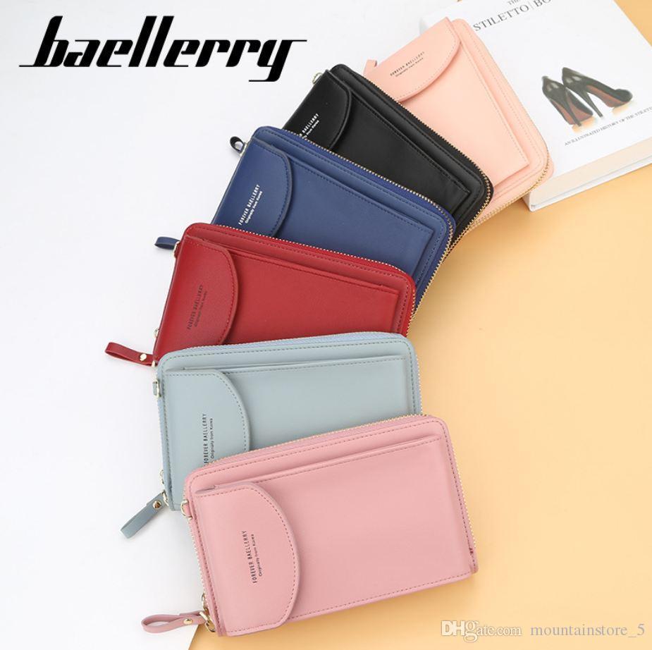 Baellerry бренд Женщины Кошелек кошелек сумка для денег Мини Телефон Сумка Кожаный Чехол Для iPhone Samsung Huawei гарантия качества