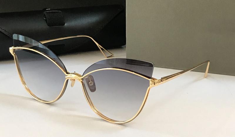 New Fashion Sunglasses Donne Design Design Metallo Vintage Occhiali da sole Occhiali da sole stile Affascinante Cat Eye Frame Occhi UV 400 Lente