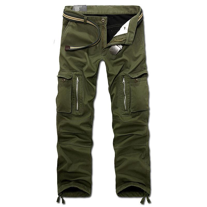 Drop Shipping New Men Winter Men's Cargo Pants Baggy Trousers 3 Colors 28-40 Without Belt Axp112 SH190816