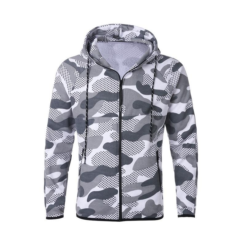 Puimentiua 2019 Camouflage Imprimer Hommes Deux Piece Set Fashion Camo Sweats à capuche piste Veste Pantalon Costume Ensembles Survêtement Hommes Casual