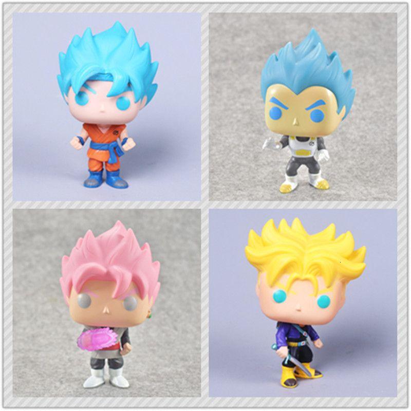 3 NUOVA di stile Dragon ball Z figura Super Saiyan Goku Trunks Nero Super Vol. 2 Azione PVC Figure Modello Giocattoli Y191105