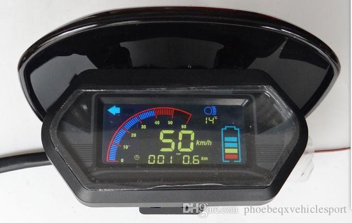 48V60V64V72V84V96V Ekran ile Koruyucu Kapak ile Elektrikli Scooter Bisiklet Üç Tekerlekli Bisiklet Motosiklet ATV Speedometer Ölçer Kilometre Sayacı