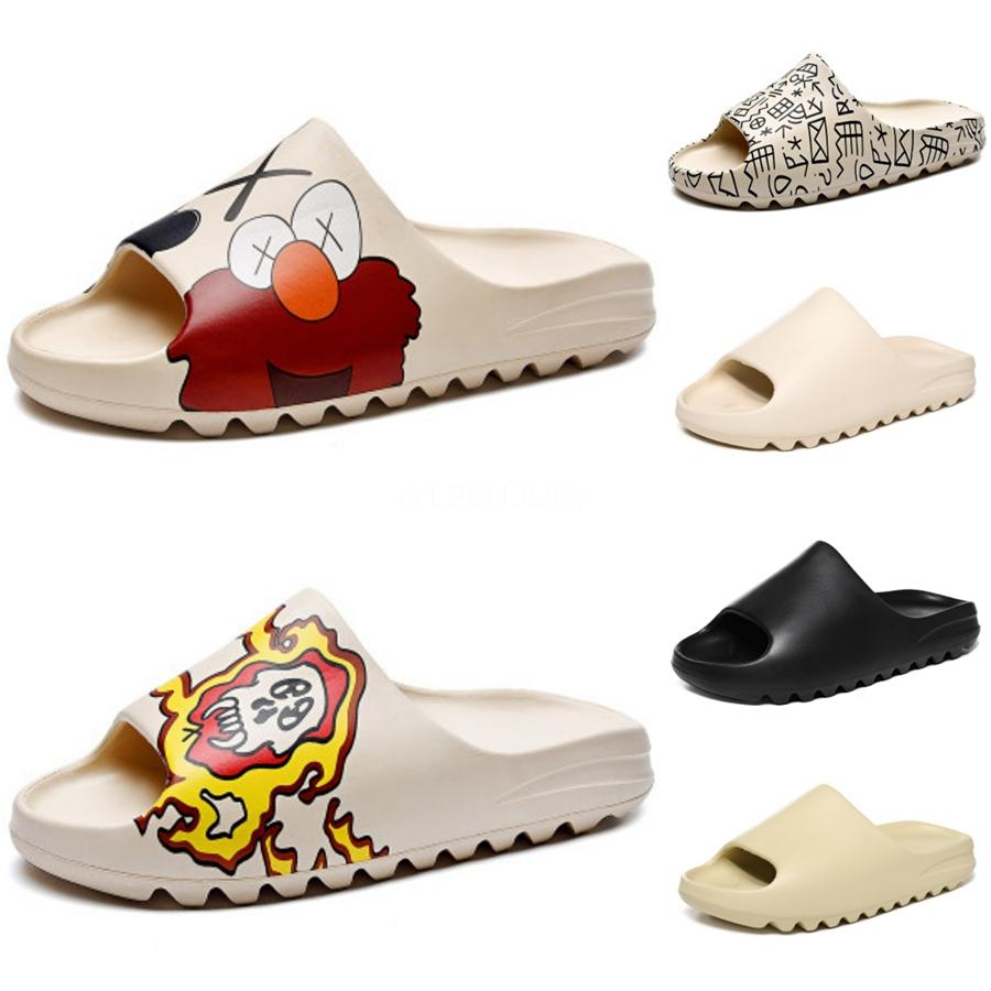 2020 Mulheres do Real Fur Chinelos Raccoon Furry Fox Slipper Fur Slides senhoras Cute Cute Shoes Plush sandálias macias para as mulheres # 600