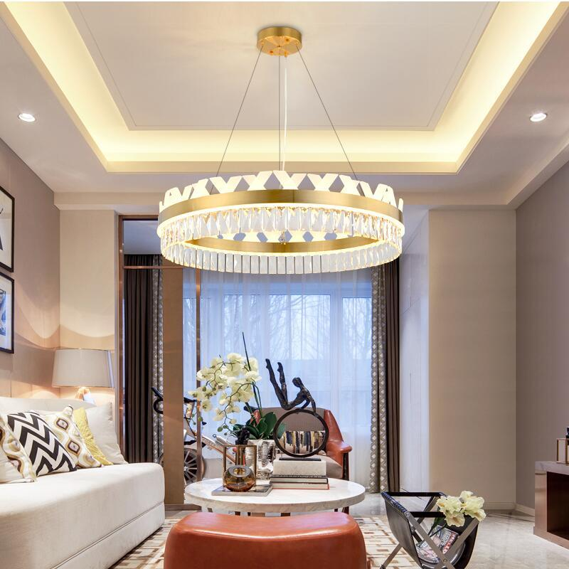 Modern Chandelier Round Luxury Living Room Lamp Restaurant Acrylic Crystal  Chandelier Contemporary Pendant Lights Contemporary Pendant Lighting From  ...