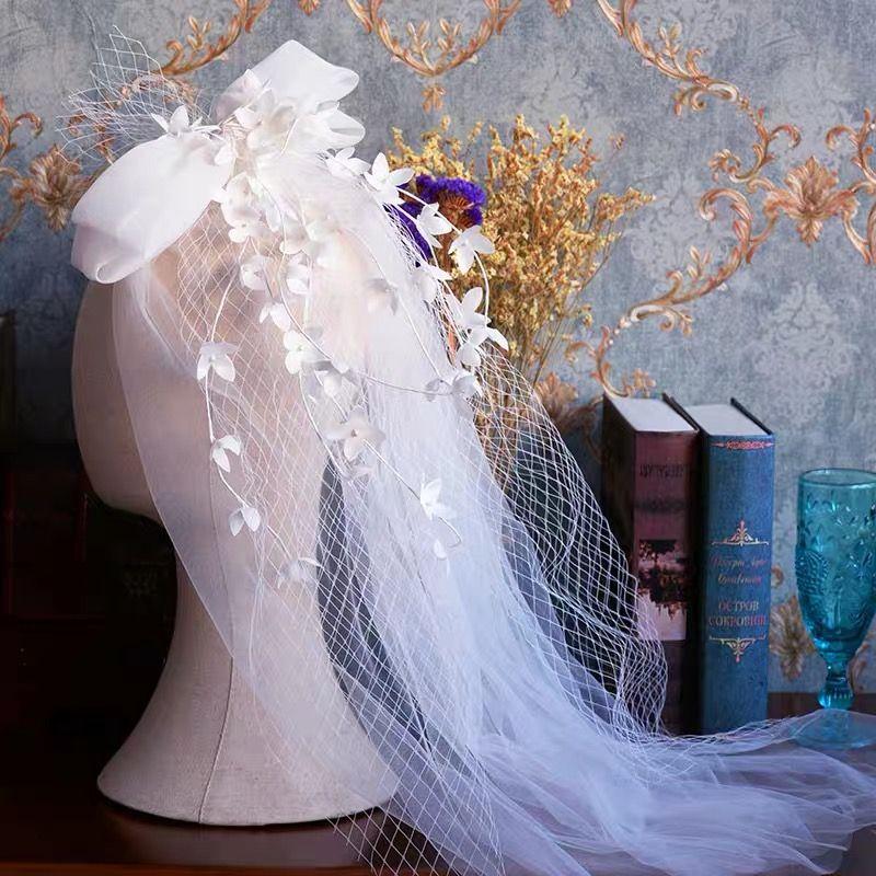 Высокое Качество Свадебные Короткие Свадебные Veill Невесты Аксессуары Для Волос Свадебное Платье Аксессуары Белый Hairbands