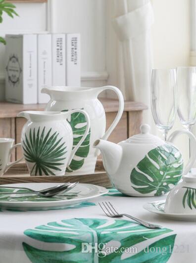Dishware set teapot ceramics home gift Nordic style Chinese dish