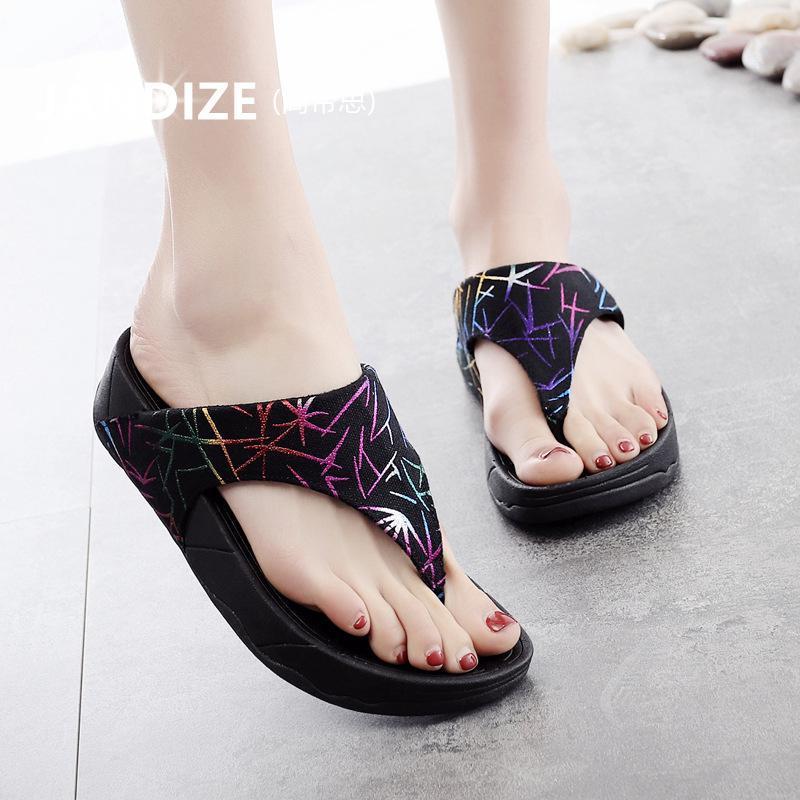 Sandals with Clip Feet Bohemian 2018 Slippers Women Summer Wear Slip-proof Comfortable Soft Bottom Flip Flops
