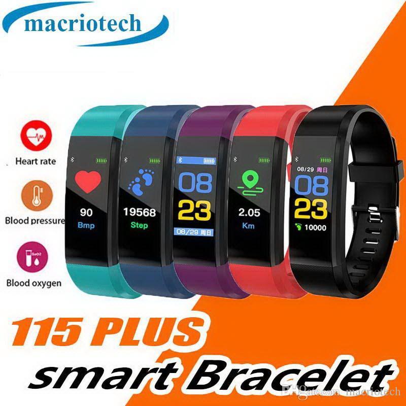 Esportes Inteligente Banda Relógio de Bluetooth Veryfit ID115 HR Monitor de Freqüência Cardíaca Rastreador de Fitness Display OLED Pulseira Pedômetro para iPhone Android