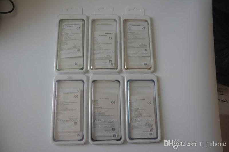 큰 삼성 S10 / S10 + 도금 PC 투명 휴대 전화 케이스 S10E 투명 휴대 전화 쉘 배달 정확한 양의 호의를