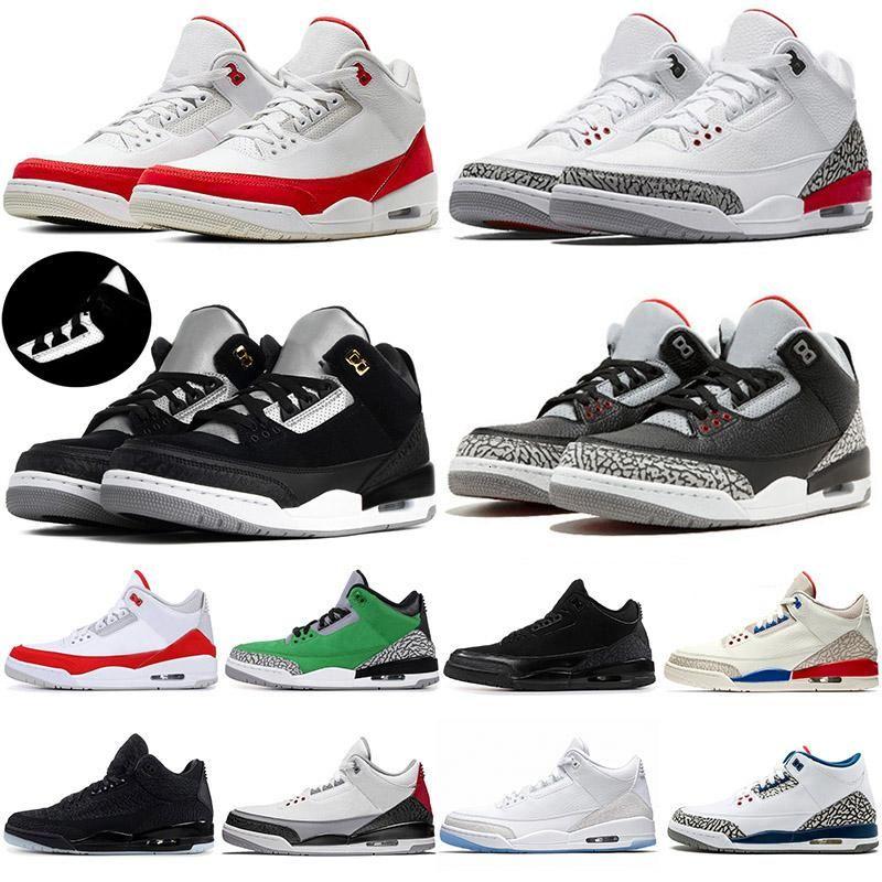 Cheap Black cat III Knicks Rivals Men Basketball Shoes UNC Mocha Chlorophyll Varsity Red Katrina Tinker white cement Sports sneakers 41-47
