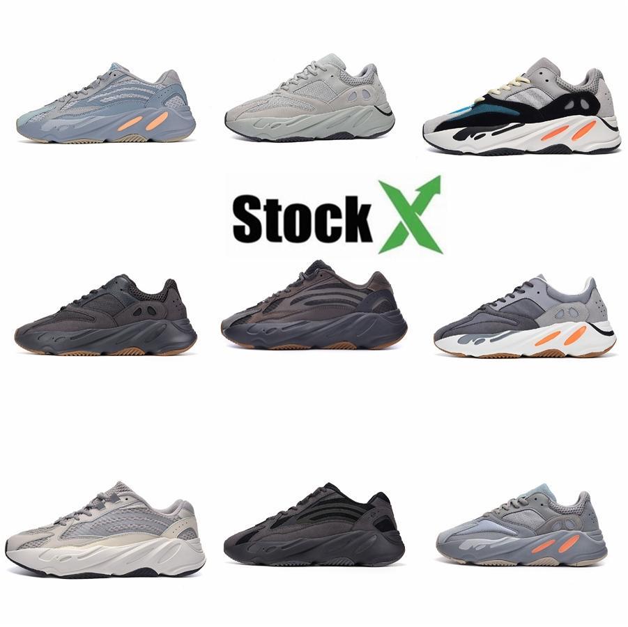Новые поступления Дизайнерские Повседневная обувь 700 Runner Сиреневый Kanye West Mens Wave обувь Спортивный 700S Спорт Бег тапки обувь V9 # QA325
