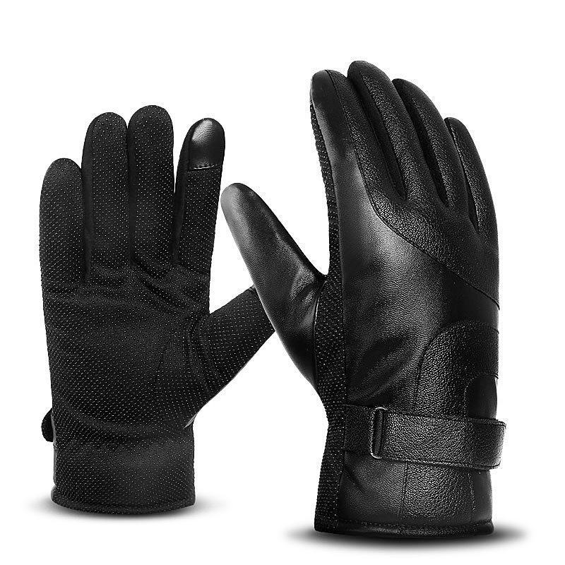 DHL libero 4 colori Cuoio Touchscreen Guanti antivento impermeabile guanti caldi di inverno per esterna che guida il pattino del motociclo in bicicletta Mittens M692F