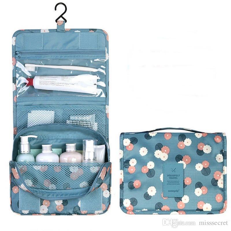 Femmes Cosmétique Sacs Mode Maquillage Sac Unisexe Portable Pliant Multifonction Étanche Sac De Lavage Grande Capacité Type Suspendu Make Up Sac