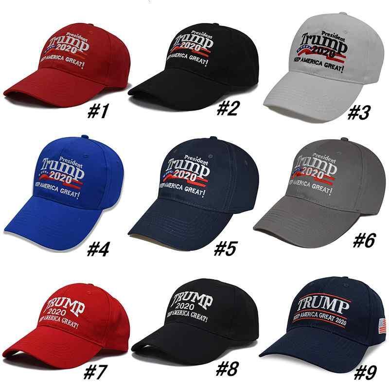 38 Styles Trump 2020 Chapéus Mantenha América Grande Hat Eleição bordado 3D Esporte beisebol ZZA2119