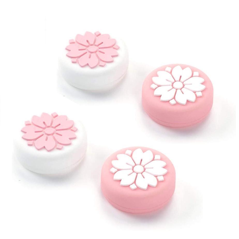 Carino Sakura neve silicone antiscivolo Cap Caso Thumb blocchi del coperchio analogico Thumb Caps Stick joystick per Nintendo switch Joy-con e Switch Lite
