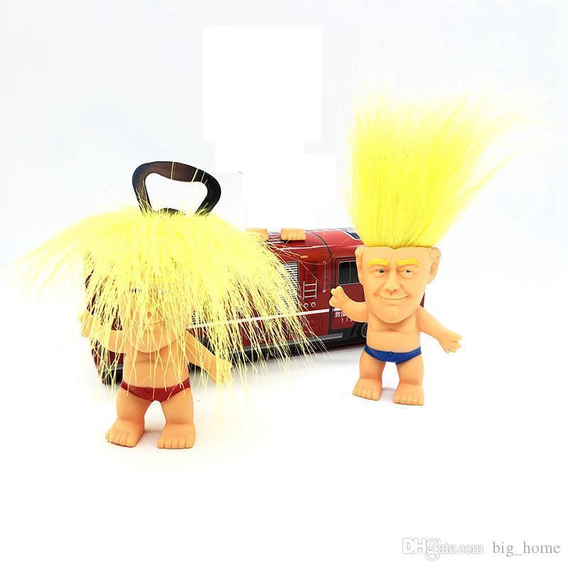 2020 Bouteille Donald Trump ouvre Precident Figure Poupées nouveauté Cartoon bière décapsuleurs Troll Doll Jouets cuisine drôle outil LJJ_A2248