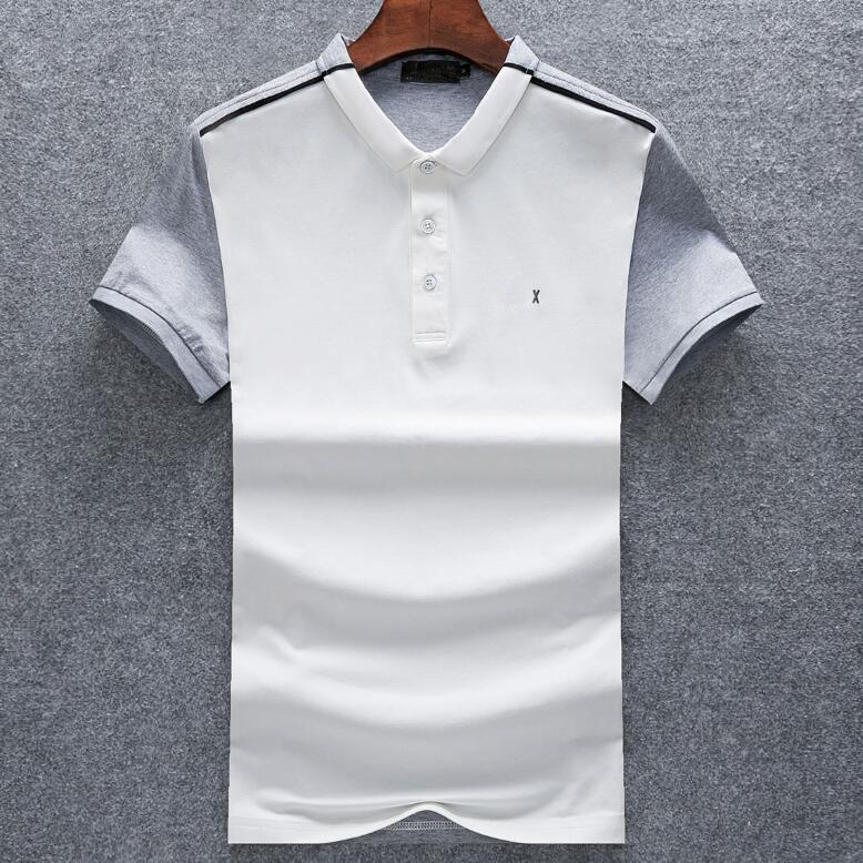 Hommes Design T-shirt des hommes Lettre d'impression à manches courtes des hommes de mode Turn Casual T-shirts col vers le bas