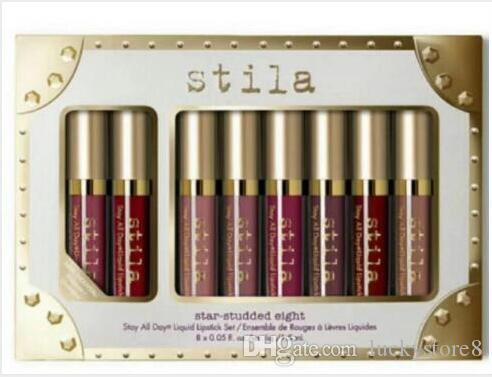 Stila Star Studded liquide à lèvres Rouge à lèvres brillant de de Set Stay All Days Long Lasting Creamy Shimmer Fond de teint liquide goutte de rouge à lèvres Lip Gloss navire