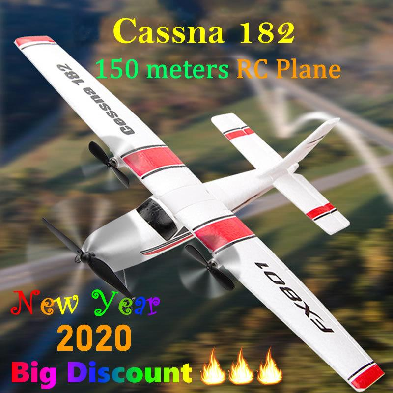 Beginner Electric RC Airplane RTF Epp Foam Remote Control Glider Plane Cassna 182 Aircraf More Battery Increase Fly Time Y200317