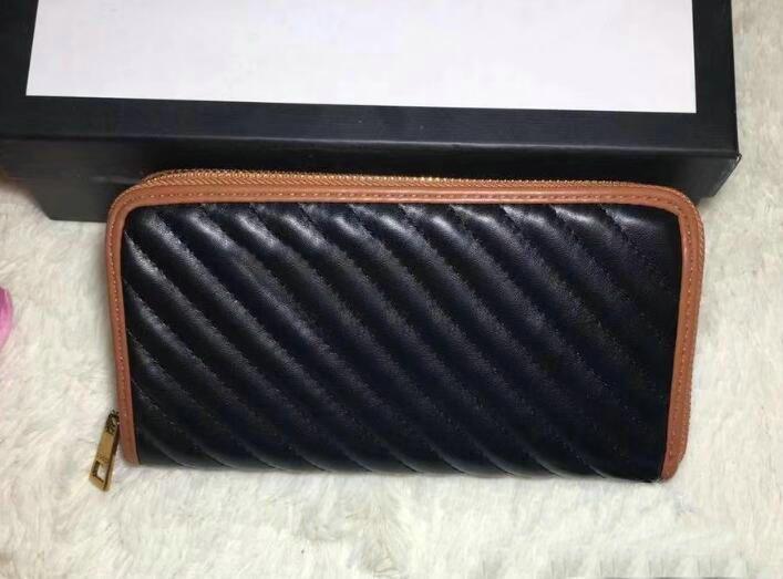 le donne di qualità cerniera breve raccoglitore dei supporti in pelle nera Marmont portafogli da donna con cerniera lunghezza della borsa del raccoglitore della carta ffd558