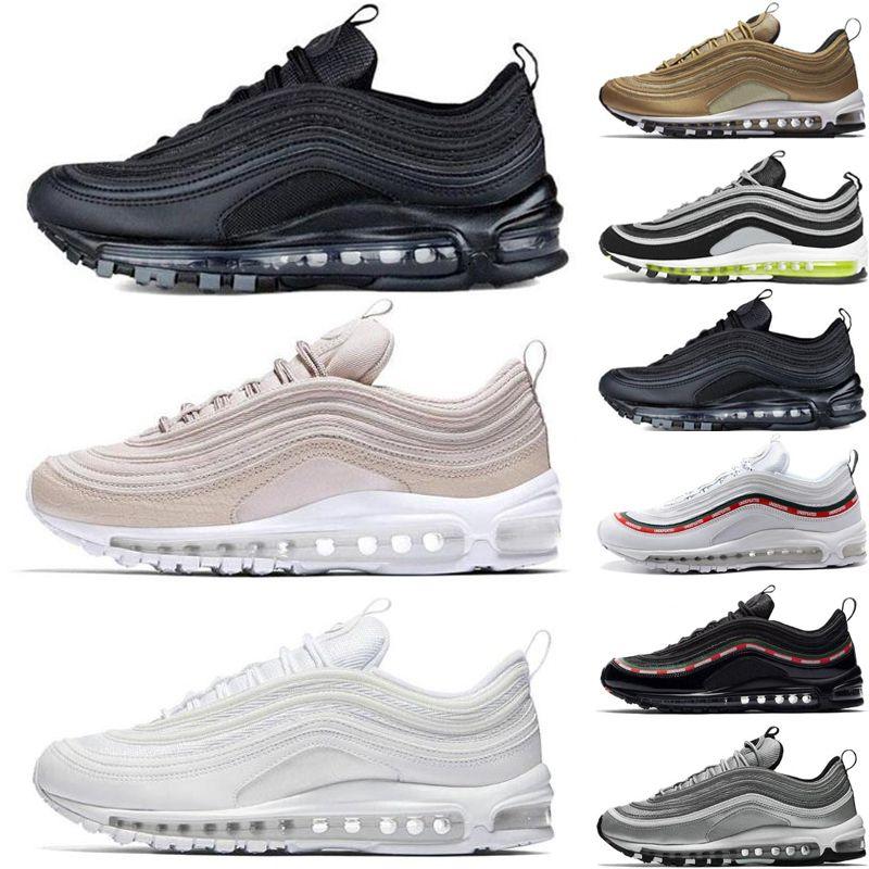 Compre Nike Air Max 97 2018 Zapatillas De Running Para Hombre Zapatillas De  Deporte Moda Deportiva Para Mujer Zapatillas De Deporte Blancas Y Negras ...