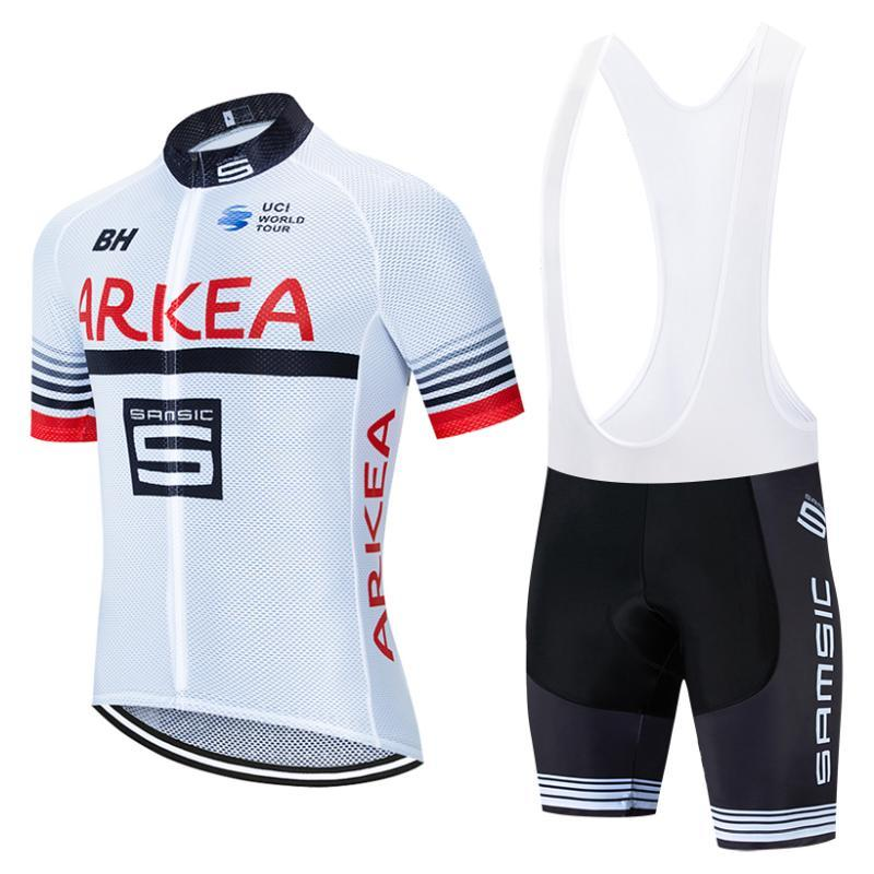 2020 화이트 ARKEA 사이클링 팀 저지 20D 자전거 반바지 로파 Ciclismo 빠른 PRO 자전거 타이츠 바지 옷을 건조 여름 망에 맞게