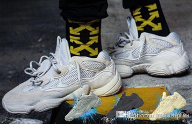 Onda Runner 500 Utility Preto Blush Desert Rat Super Lua amarela Running Shoes Kanye West Designer Homens Mulheres sapatilha Calçados Esportivos