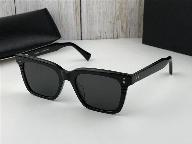Occhiali da sole Men Design Occhiali vintage Sequoia Fshion Style Square Frame UV 400 Lente con custodia