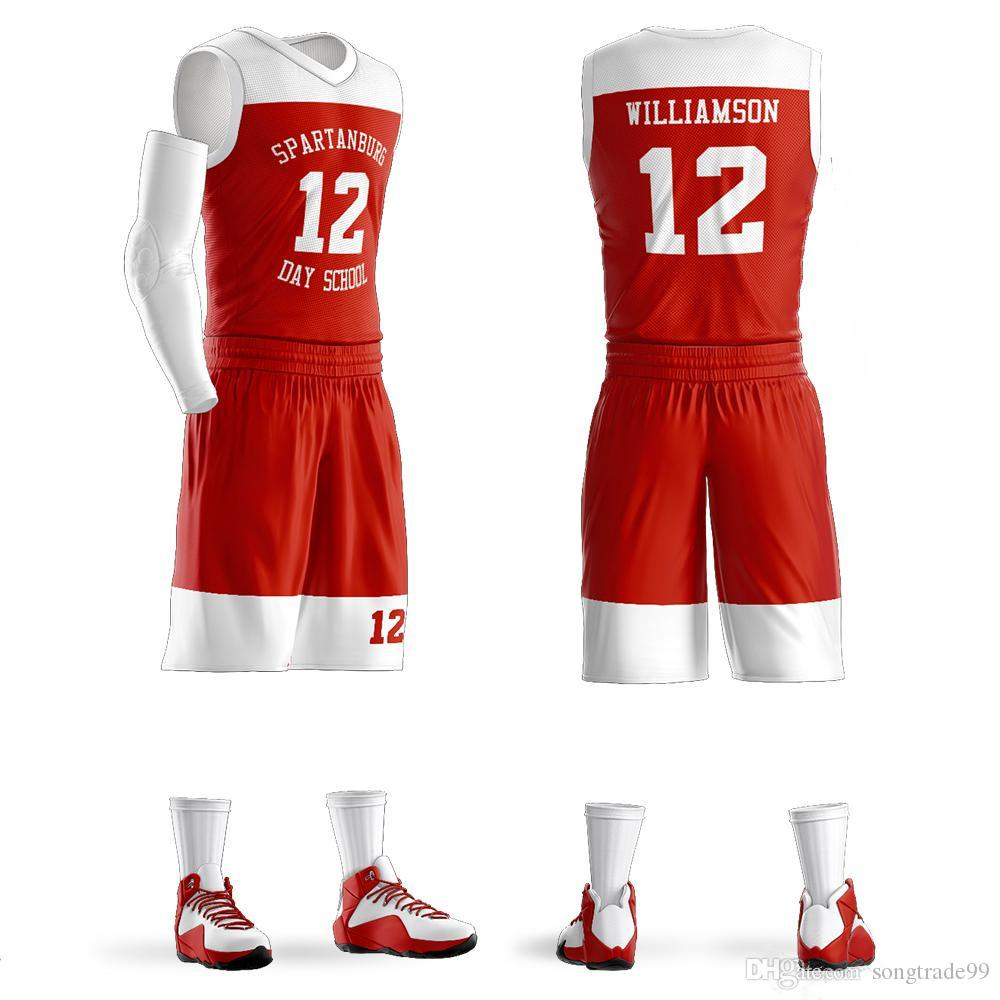Custom Men Women Kids basketball jerseys breathable blank college basketball uniforms Youth sport sets personalized custom ANY name number