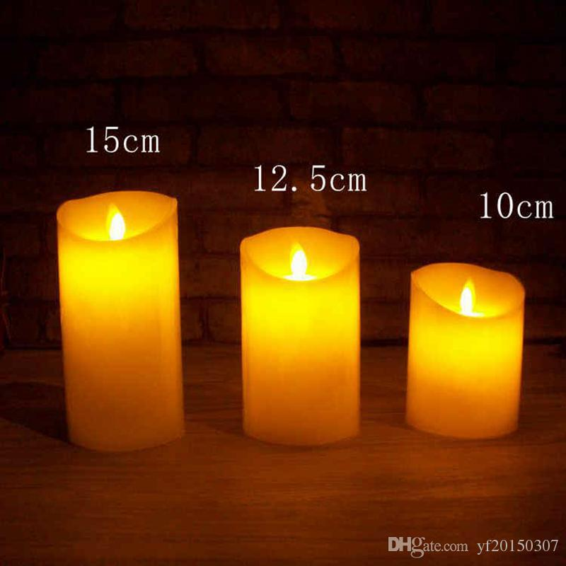 Flameless LED Candles Light Remote Control Valentine Lamp Wedding Party Decoration
