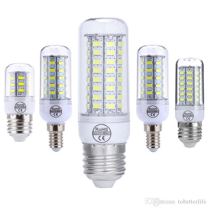 E27 E14 GU10 G9 Ampoule de maïs à LED B22 LED Super lumineux 5730 7W / 12W / 15W / 18W / 20W chaud / blanc 110v 220V pour lustre