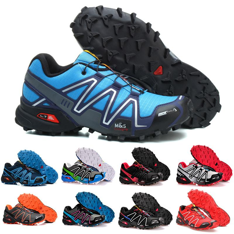 New 2019 Speed Cross 4 Iv Cs Trail Running Shoes For Men Women Black Red Blue Outdoor Hiking Athletic Sports Sneakers Size 36-46
