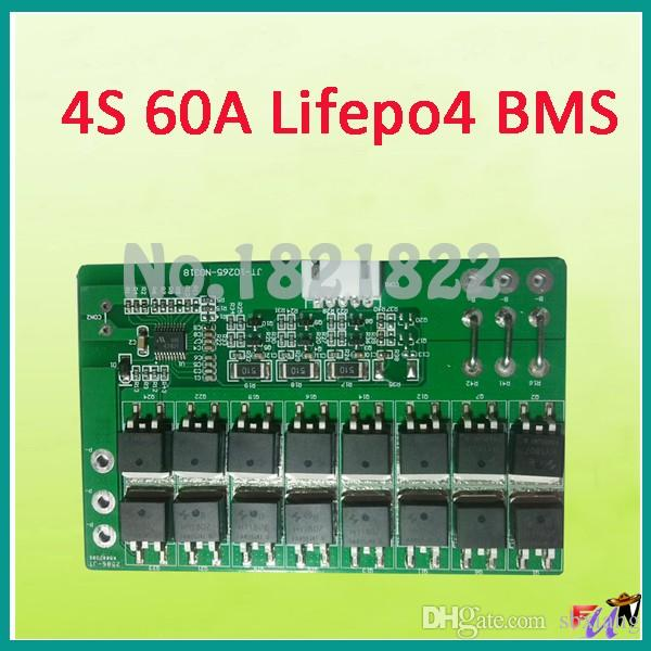 Freeshipping 4S 60A lifepo4 BMS PCM lifepo4 battery protection board bms pcm with balancing for lifepo4 battery pack