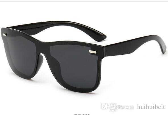 2019 nuovo un pezzo occhiali da sole polarizzati occhiali da sole protezione UV pellicola a colori di moda Specchio 650