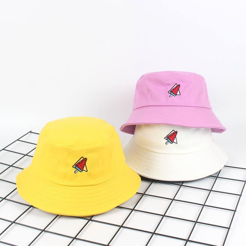 Coton Cartoon pastèque Chapeau chapeau de pêcheur Voyage extérieur Sun Casquette pour les hommes et les femmes 533