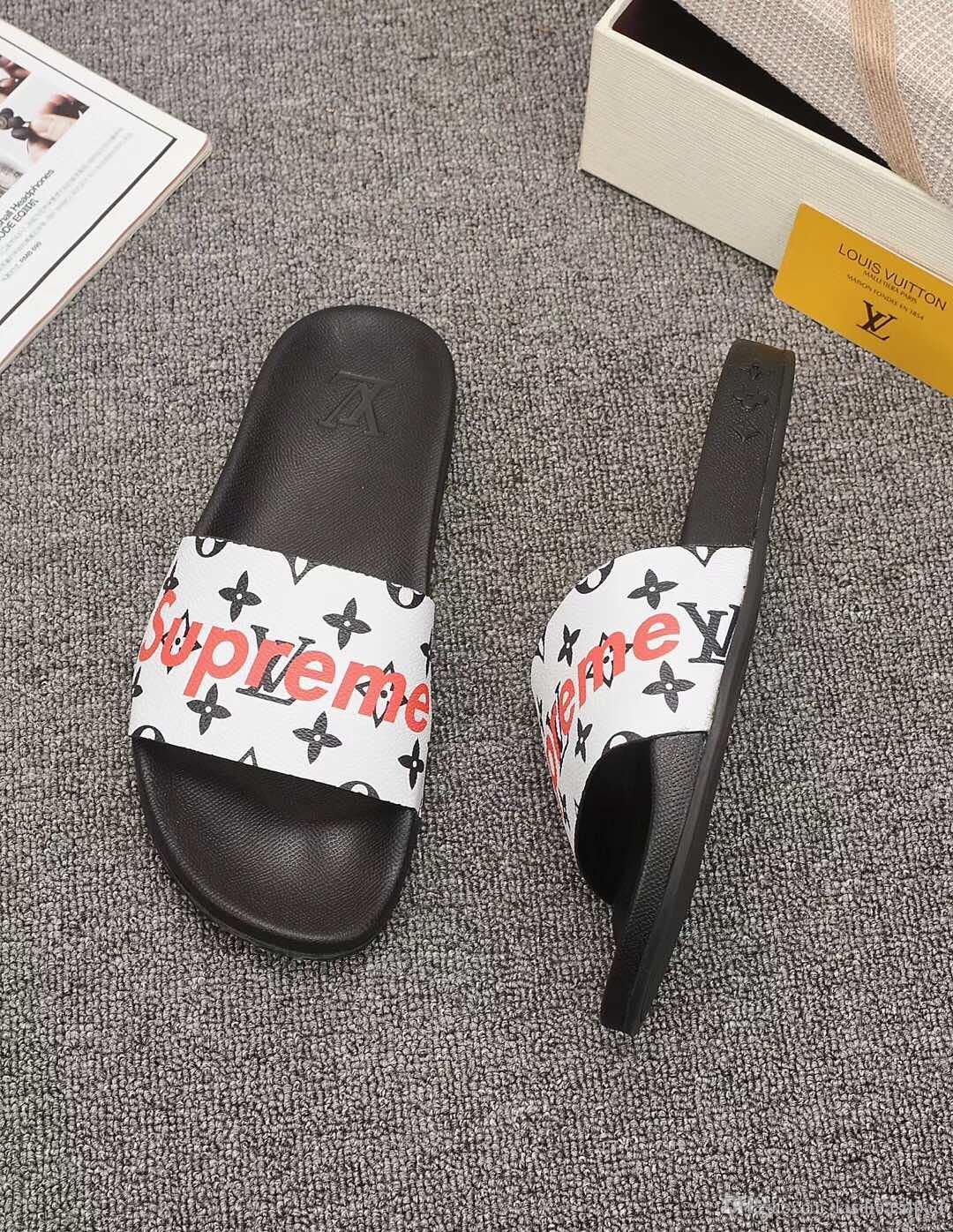 mens pantoufles plage en cuir véritable des hommes en cuir respirant sandales pantoufles d'été chaussures pour hommes en plein air HX040 occasionnel