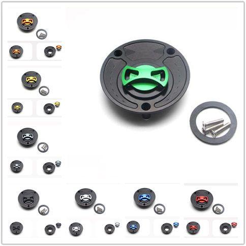 Für FZ6 FZ8 FZ6R FZ1 R1 R6 R6S FJR1300 MT09 MT07 XJ6 XSR700 Aluminium CNC Motorräder Tankdeckel Tankdeckel Abdeckung Keyless