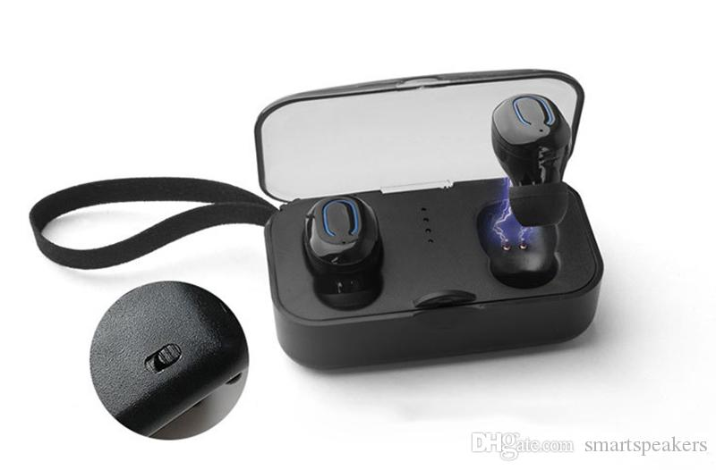 T18S TWS Fones de Ouvido Sem Fio Invisible Fones De Ouvido Bluetooth 5.0 Mini Fones De Ouvido Estéreo Deep Bass Headset i10 tws i12 tws Para Smartphones