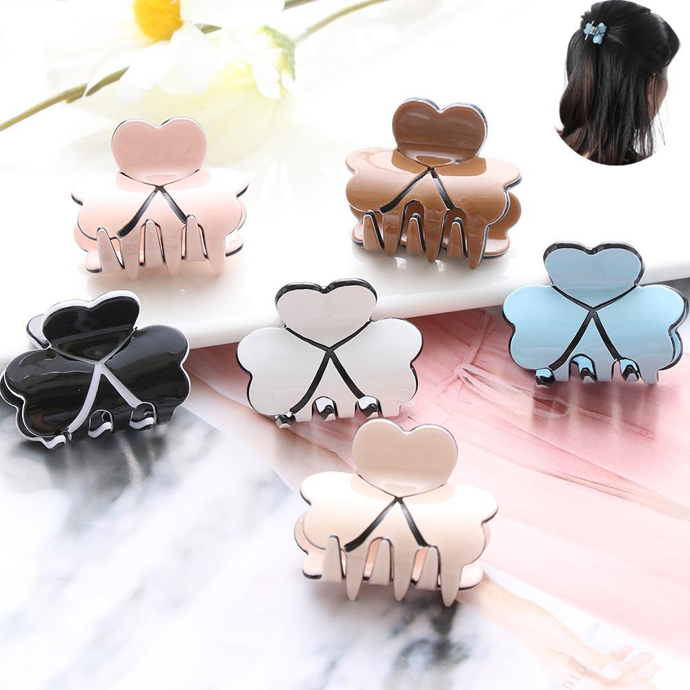 1PC New Fashion Women Hair Claw Elegant Mini Hairpins Simple Colorful Clamp Bun Maker Hair Accessories Acrylic Hair Clips D19011502