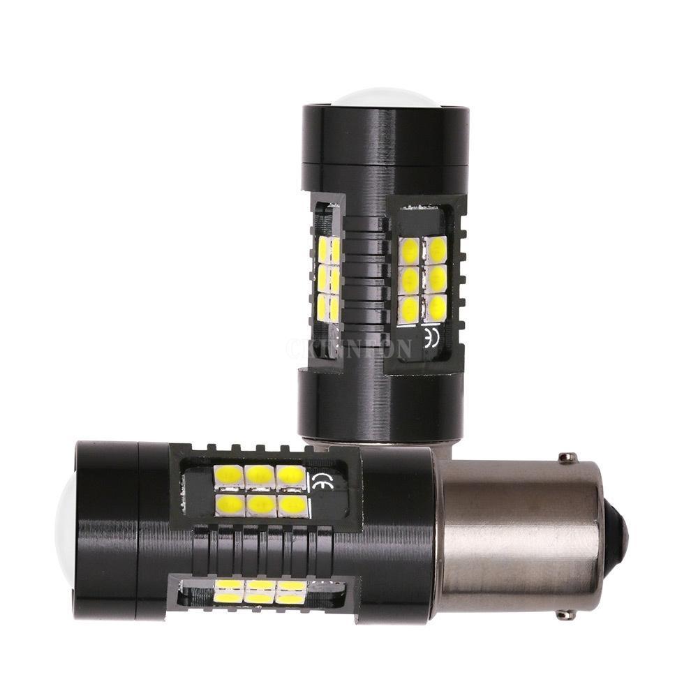 100Pcs / Lot LED 1156 1157 P21W PY21W BA15S BAU15S Canbus nessun errore auto lampadina 1200Lm Girare segnale di retromarcia Luce 3030SMD