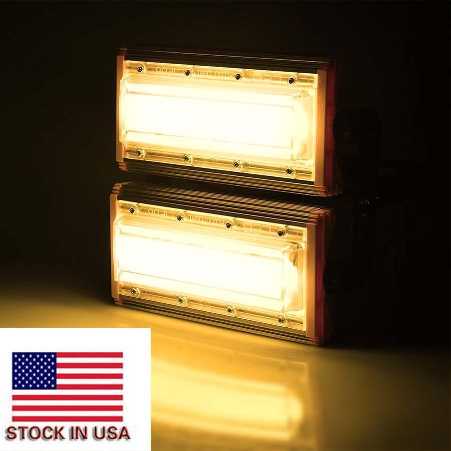 Stock US Led récent Projecteurs Éclairage extérieur 100W 110V extérieur Flood Eclairage LED de haute puissance Paysage réflecteur garde plaza