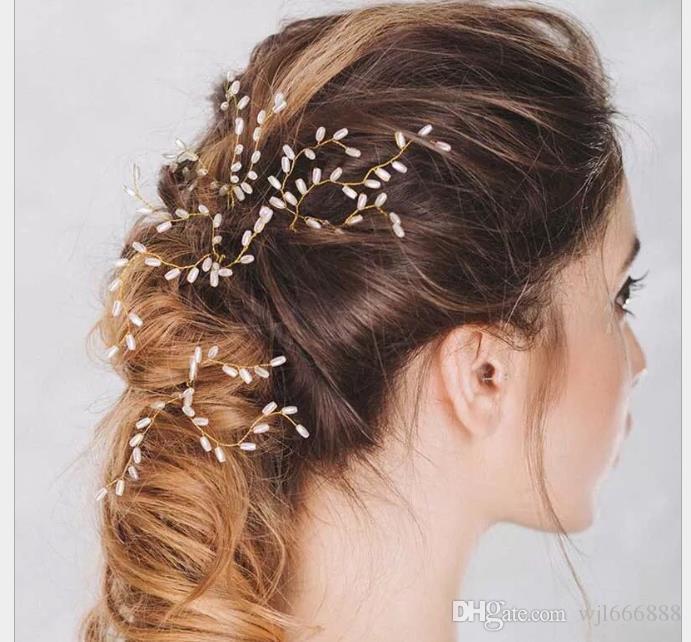 Cocar de cabelo de pérola cocar acessórios de cocar artesanal branco na Europa e América